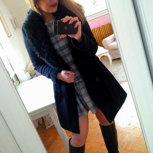 Mój styl płaszcz z kołnierzem