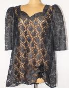 Czarna koronkowa bluzka Rozmiar 54...