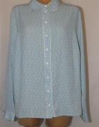 Błękitna bluzka w biały wzorek TU Rozmiar 50