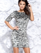 Elegancka WELUROWA sukienka...