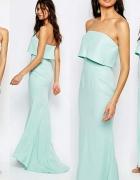 Piękna suknia sukienka NOWA z trenem...