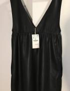 Czarna sukienka ogrodniczka Zara...
