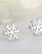 Kolczyki idealne na zimę płatki śniegu
