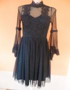 Sukienka gotycka castle party szerokie rękawy