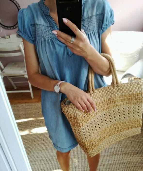Suknie i sukienki jeansowa sukienka