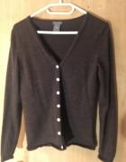 Brązowy rozpisany sweter Ann Taylor