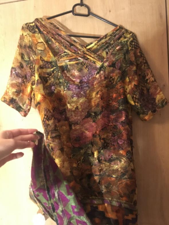 Kolorowa przezroczysta sukienka Desigual