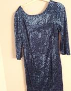 Oryginalna welurowa sukienka vintage...