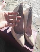 buty slubne buty bezowa...