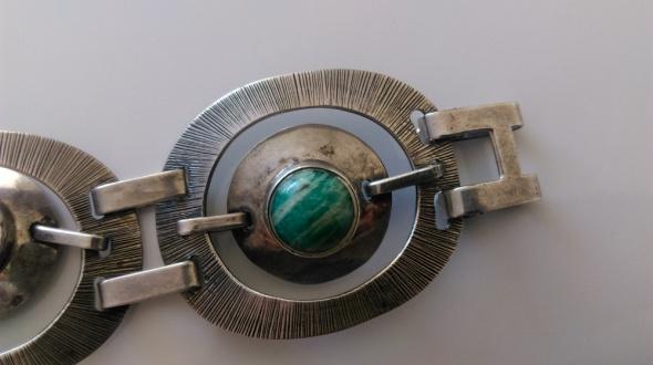 b205f270b7be ORNO srebrna masywna bransoletka amazonit srebro w Bransoletki ...