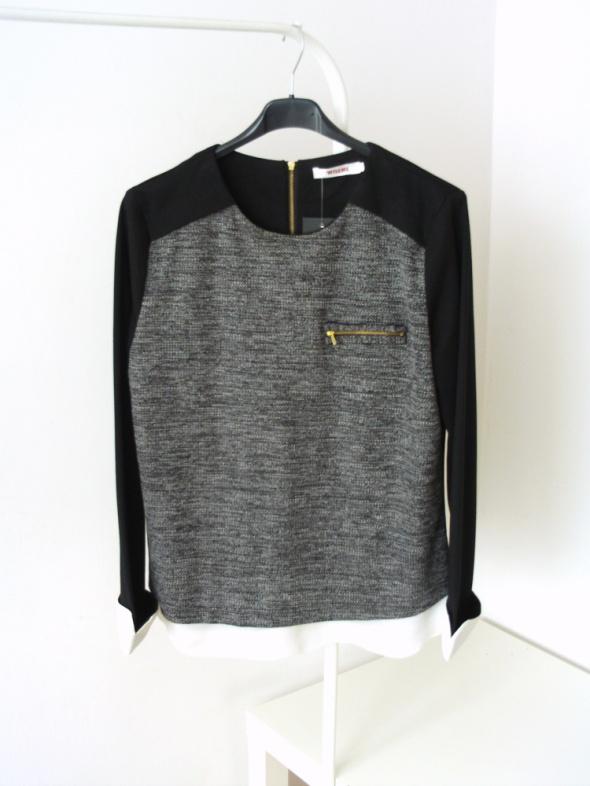 Sweterek z mankietami casual minimalizm hit