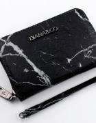 Czarny marmurowy portfel dla fashionistki blog