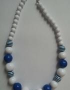 Korale biało niebieskie