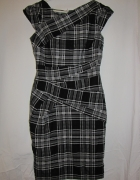 Kobieca elegancka sukienka w kratkę New Loook