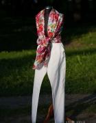 Białe lniane spodnie...