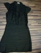 czarna sukienka retro z koronką 40 42...