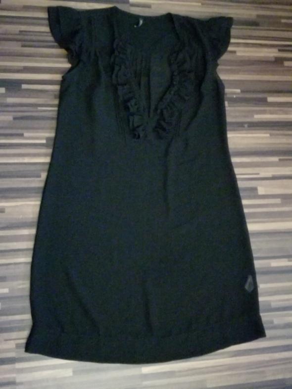 Suknie i sukienki czarna szyfonowa sukienka top shop 40 42