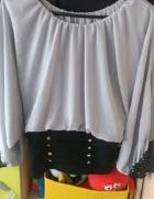 Bluzka długi rękaw z gipiurą