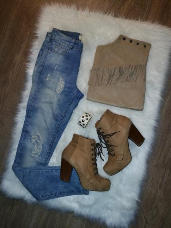 Codzienne frendzle i jeans
