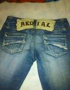 Dżinsy REDIAL jeansy napis z tyłu M WYJĄTKOWE...
