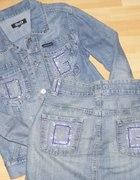 Komplet jeans katana i spódnia DOLCE GABBANA S M