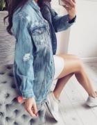 Katana długa jeansowa