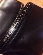 Czarne skórzane buty z Ryłko...