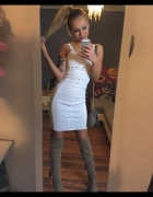 Biała sukienka bandazowa S