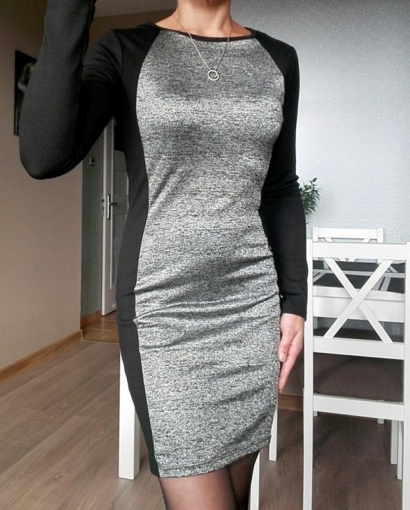 31c98faed9 HM sukienka dopasowana zip w Suknie i sukienki - Szafa.pl