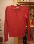 Czerwony rozpinany sweterek rozmiar S