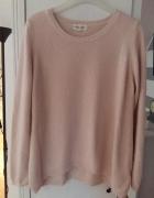 New Look różowy sweter moherowy styl zara