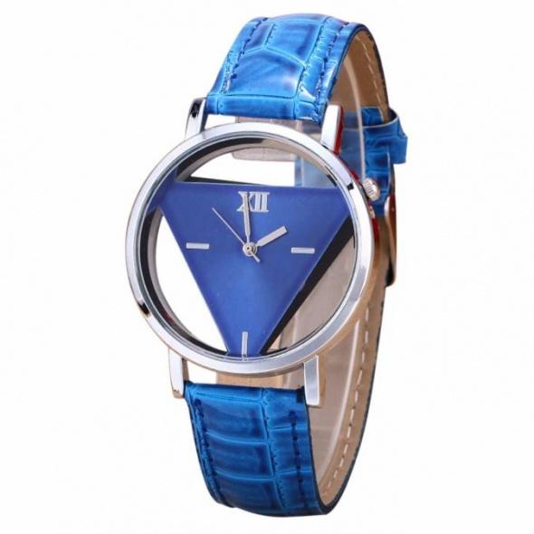 Zegarki Zegarek damski trójkąt niebieski