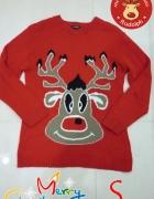 świąteczny sweterek renifer