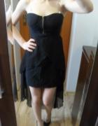 wieczorowa czarna asymetryczna sukienka...