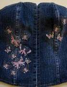 Gorsecik jeans z motylkami