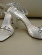 Sandałki ślubne i nie tylko rozm 39 kolor perłowy