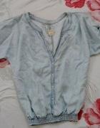 Blekitna Koszula na gumce
