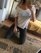 Koszulka z krótkim rękawkiem biały tshirt boyfriend Tommy Hilfi...
