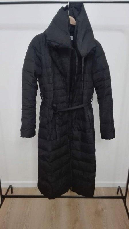 długi płaszcz xs s zimowy...