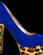 panterka kobaltowe szpilki