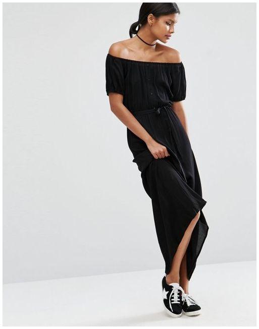Asos maxi czarna sukienka hiszpanka 38 40