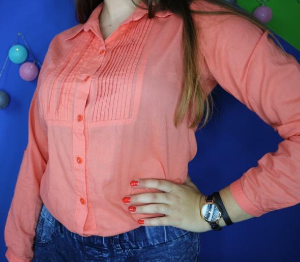 bawełniana pomarańczowa koszula