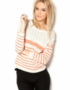 Ażurowy sweterek w paski VILA clothes...