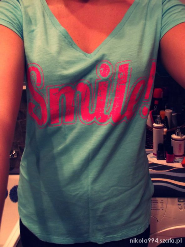Bluzki Bluzka biebieska Smile