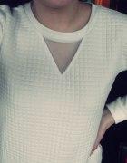 Bluza pikowana biała