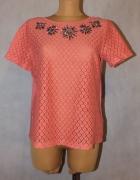Ażurowa bluzeczka z koralikami Rozmiar 42