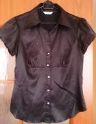 śliczna czarna satynowa bluzka