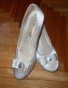 Buty śmietankowa perła ślubne