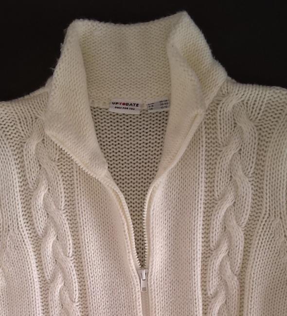 Swetry Bon Prix długi kremowy sweter