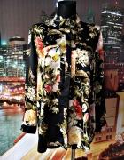 missguided bluzka koszulowa kwiaty elegancka 44